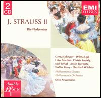 J. Strauss II: Die Fledermaus - Anton Dermota (vocals); Christa Ludwig (vocals); Eberhard Wächter (vocals); Erich Majkut (vocals); Gerda Schreyer (vocals);...
