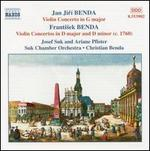 Jan Jirí & Frantisek Benda: Violin Concertos, Vol. 1