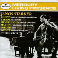 Janos Starker - György Sebök (piano); Janos Starker (cello); Harold Lawrence (conductor)