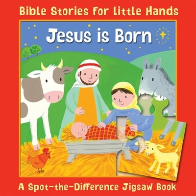 Jesus is Born: A Spot-the-Difference Jigsaw Book - Rock, Lois