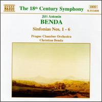 Jirí Antonín Benda: Sinfonias Nos. 1-6 - Karel Stadtherr (violin); Prague Chamber Orchestra; Christian Benda (conductor)