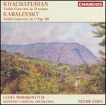 Khachaturian: Violin Concerto in D minor; Kabalevsky: Violin Concerto in C Op. 48