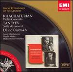 Khachaturian: Violin Concerto; Taneyev: Suite de concert