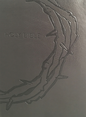 Kjver Sword Study Bible Giant Print Designer Charcoal Ultrasoft Crown of Thorns Indexed: King James Version Easy Read - Whitaker House