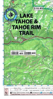 Lake Tahoe Recreation Map: Shaded-Relief Topo Map - Tom Harrison Maps