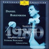 Lalo: Symphonie espagnole; Saint-Saens: Symphony No. 3 - Daniel Barenboim (piano); Gaston Litaize (organ); Itzhak Perlman (violin); Daniel Barenboim (conductor)