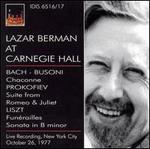 Lazar Berman at Carnegie Hall