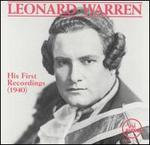 Leonard Warren: His First Recordings