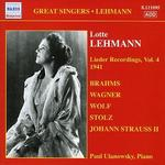 Lieder Recordings, Vol. 4: 1941 - Brahms, Wagner, Wolf, Stolz, Strauss II