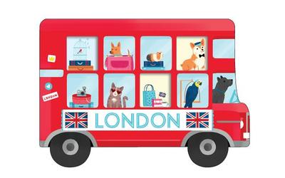 London Bus Shaped Cover Sticky Notes - Galison