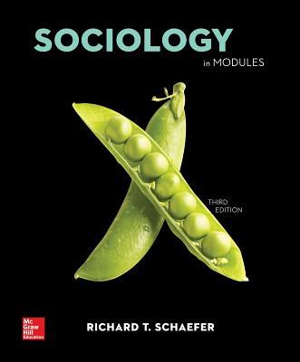 Loose Leaf Sociology in Modules Loose Leaf - Schaefer, Richard T