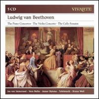 Ludwig van Beethoven: The Piano Concertos; The Violin Concerto; The Cello Sonatas - Anner Bylsma (cello); Anner Bylsma (candenza); Jos van Immerseel (candenza); Jos van Immerseel (fortepiano);...