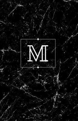 M: Personalized Monogrammed Journal (Notebook/Diary) Gift for Friend Office Teacher Black Marble - Journals, Custom