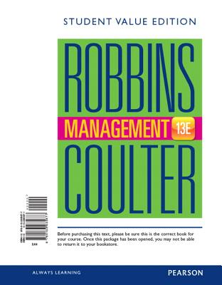 Management, Student Value Edition - Robbins, Stephen P, and Coulter, Mary