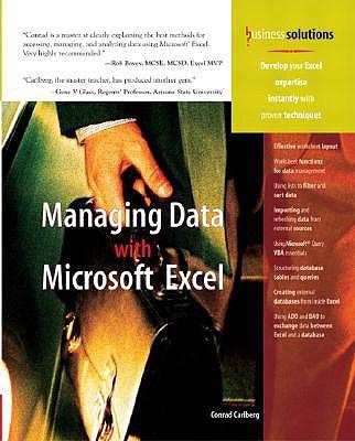 Managing Data with Excel - Carlberg, Conrad, PH.D.