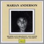 Marian Anderson: Brahms Alto Rhapsody & Lieder