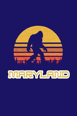 Maryland: Bigfoot themed journal with names of States in America - Koorey, Nathan