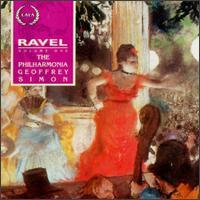 Maurice Ravel, Volume One - Sally Burgess (mezzo-soprano); Stephanie Chase (violin); Philharmonia Orchestra; Geoffrey Simon (conductor)