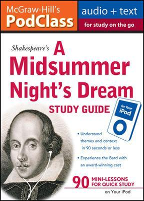 McGraw-Hill's Podclass a Midsummer Night's Dream Study Guide (MP3 Disk) - Mallison, Jane