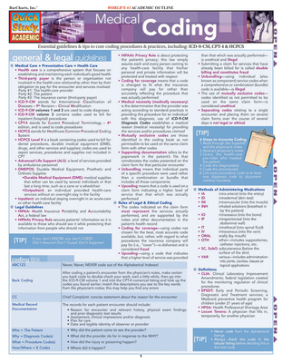 Medical Coding Laminated Reference Guide - Barcharts