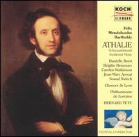 Mendelssohn: Athalie - Brigitte Desnoues (soprano); Carolyn Watkinson (mezzo-soprano); Danielle Borst (soprano);...