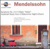 Mendelssohn: Symphony No. 4 in A Major; A Midsummer Night's Dream, Incidental Music - Florence Quivar (mezzo-soprano); Judith Blegen (soprano); Chicago Symphony Chorus (choir, chorus); James Levine (conductor)