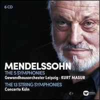 Mendelssohn: The 5 Symphonies; The 13 String Symphonies - Barbara Bonney (soprano); Concerto Köln; Edith Wiens (soprano); Peter Schreier (tenor);...