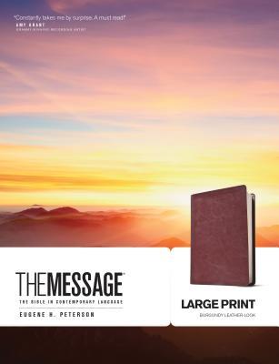 Message Bible-MS-Large Print Numbered - Peterson, Eugene H (Translated by)