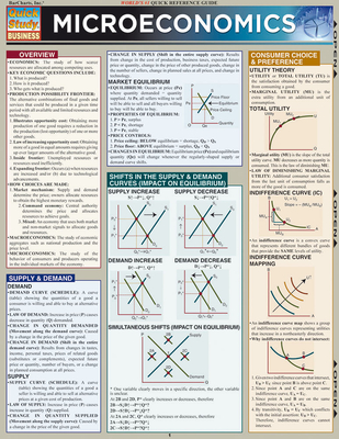 Microeconomics (Updated) Laminated Reference Guides - Hauer, Joe (Producer)