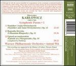 Mieczyslaw Karlowicz: Symphonic Poems, Vol. 1