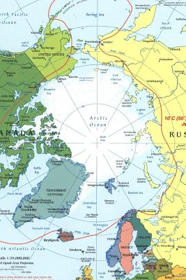 Modern Map of the Arctic Circle Region Journal: Take Notes, Write Down Memories in This 150 Page Lined Journal - Journal, Map Lovers