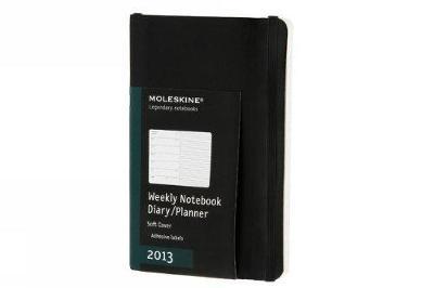 Moleskine 2013 12 Month Weekly Notebook Planner Black Soft Cover Pocket (Moleskine Diaries) - Moleskine