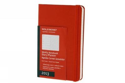 Moleskine 2013 12 Month Weekly Notebook Planner Red Hard Cover Pocket (Moleskine Diaries) - Moleskine