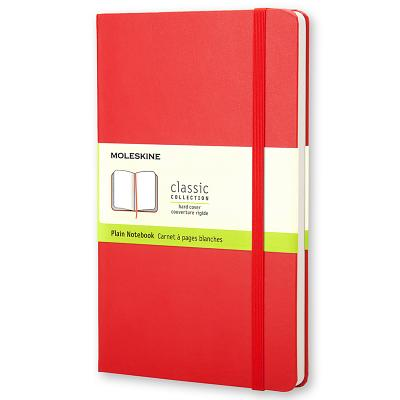 Moleskine Large Plain Notebook Red - Moleskine