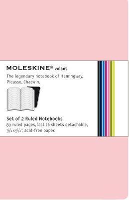 Moleskine Volant Notebook Ruled, Pink Pocket: Set of 2 - Moleskine