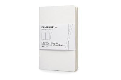 Moleskine Volant Notebook (Set of 2 ), Pocket, Plain, White, Soft Cover (3.5 X 5.5) - Moleskine