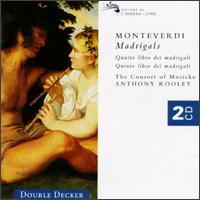 Monteverdi: Madrigals, Quatro libro & Quinto libro - Andrew King (tenor); Cathy Cass (alto); Consort of Musicke; David Thomas (bass); Emma Kirkby (soprano);...