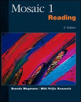 Mosaic 1 Reading - Wegmann, Brenda, and Knezevic, Miki