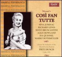 Mozart: Così fan tutte - Alice Howland (vocals); Isa Quesnel (vocals); Marko Rothmüller (vocals); Richard Lewis (vocals); Sena Jurinac (vocals);...