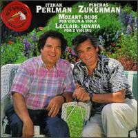 Mozart: Duos for Violin & Viola; Jean-Marie LeClair: Sonata for 2 Violins - Itzhak Perlman (violin); Pinchas Zukerman (violin)
