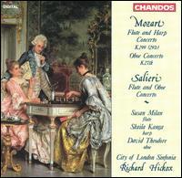 Mozart: Flute and Harp Concerto; Oboe Concerto; Salieri: Flute and Oboe Concerto - City of London Sinfonia; David Theodore (oboe); David Theodore (candenza); Skaila Kanga (harp); Susan Milan (candenza);...