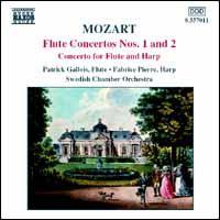 Mozart: Flute Concertos Nos. 1 and 2; Concerto for Flute & Harp - Fabrice Pierre (harp); Fabrice Pierre (candenza); Joel Pontet (harpsichord); Patrick Gallois (flute);...