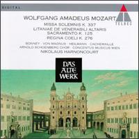 Mozart: Missa Solemnis K 337; Litaniae de Venerabili Altaris Sacramento K 125; Regina Coeli K 276 - Barbara Bonney (soprano); Elisabeth von Magnus (vocals); Gilles Cachemaille (vocals); Uwe Heilmann (tenor);...