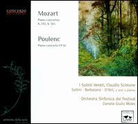 Mozart: Piano Concertos, K. 242 & 365; Poulenc: Piano Concerto, FP 61 - Gloria d'Atri (piano); I Solisti Veneti; Marco Sollini (piano); Salvatore Barbatano (piano); Symphonic Festival Orchestra