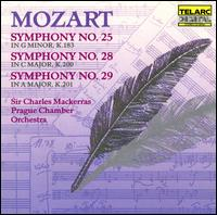 Mozart: Symphonies Nos. 25, 28 & 29 - Prague Chamber Orchestra; Charles Mackerras (conductor)