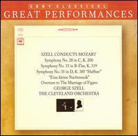 Mozart: Symphonies Nos. 28, 33, & 35 - Cleveland Orchestra; George Szell (conductor)