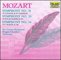 Mozart: Symphonies Nos. 31, 33, 34 - Prague Chamber Orchestra; Charles Mackerras (conductor)