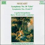 "Mozart: Symphonies Nos. 36 (""Linz""), 33 & 27"