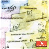 Music by Leo Kraft - Carol Baron (piano); Chris Finckel (cello); Christopher Oldfather (piano); Curtis Macomber (violin); David Jolley (horn);...