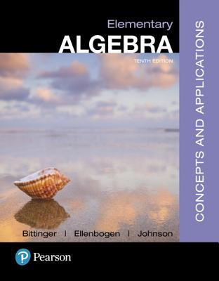Mymathlab with Pearson Etext -- Standalone Access Card -- For Elementary Algebra: Concepts and Applications - Bittinger, Marvin L, and Ellenbogen, David J, and Johnson, Barbara L